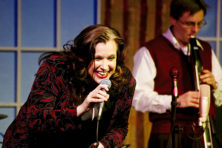 "Lisa Rock and her six-piece band will return to Third Avenue Playhouse on April 30 for their fourth performance in the county since 2012. (Above) Rock performs during ""A Carpenters Christmas"" in 2012 at TAP. Photo by Len Villano."