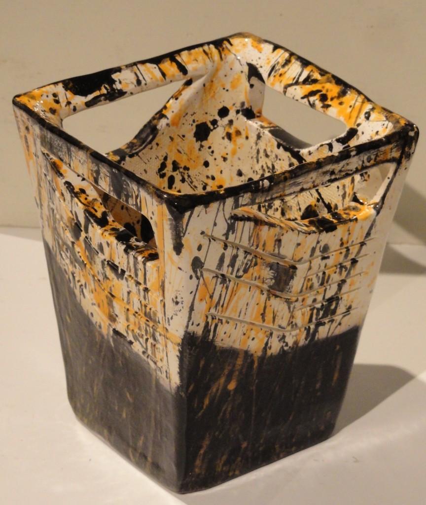 """Splatter Vase,"" ceramic, by Colby Cormier."