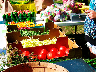 Farm markets are a great way to source your food from the people who grow it. Photo by Len Villano.