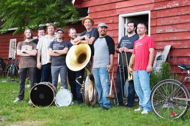 Mama Digdown's Brass Band Plays Door County Beer Festival
