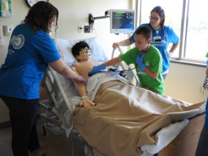 NWTC Health tech camp simulation mannequin