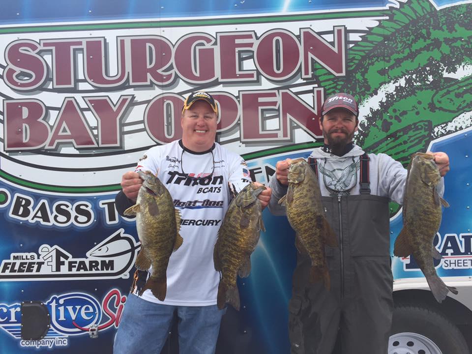 2016 sturgeon bay open bass tournament results door for Open bass fishing tournaments