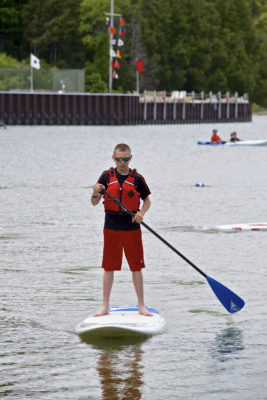 Try out kayaks and paddleboards at Sister Bay's Paddlefest at the newly expanded Sister Bay Beach this weekend. Photo by Len Villano
