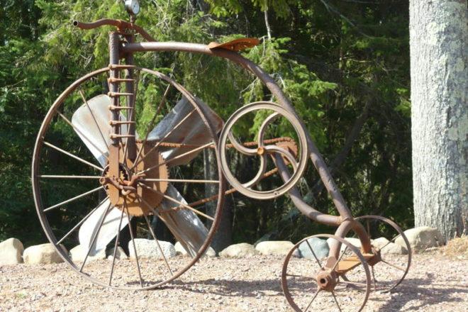 Rusty Wheel Garden Art Sold at Rusty Tractor Café - Door ...