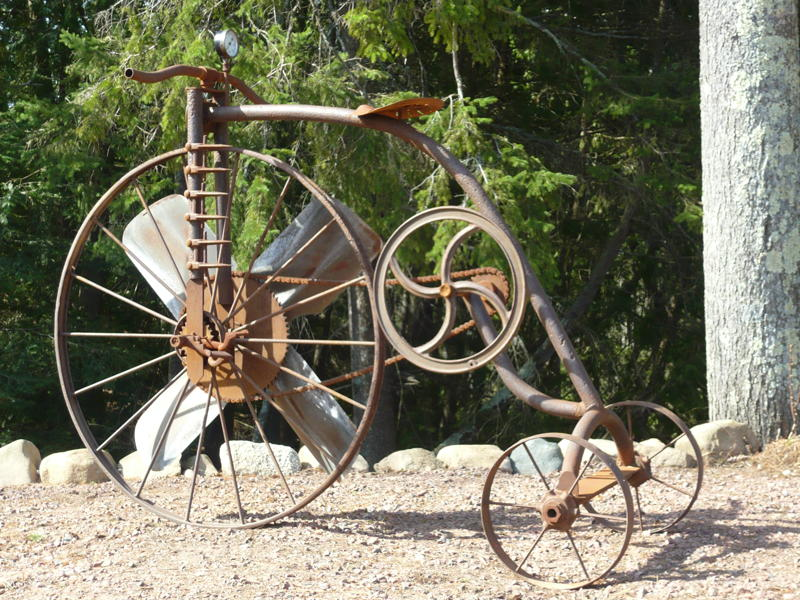 Delightful And Unique Garden Art Is A Joy Ride For The Available In Red Blue Or Yellow Powder Coated Painted Steel 100 Satisfaction