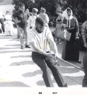 """Fifty years ago, Cedric Nelson anchored the winning """"Tug o' War"""" team at the first Olde Ellison Bay Days festival. Submitted."""