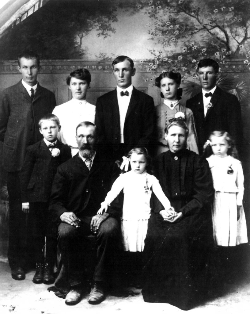 Among the first members of the Sister Bay Moravian Church were Isaac and Hannah Nelson and their eight children: (front row) Arnold, Elda and Grace; (back row) Eddie, Isabel, Sam, Delia and Joe. Their descendants among past and current congregation include 25 members of the Nordeen, Lundquist, Tesnow, Bokelmann, Michelson, Charney, Nelson, Staver, Pritchett, Sunstrom, Seila, Kalms, Koehler, Fandrei, Mann and Shepit families. Submitted.