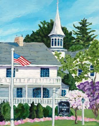Landmark Buildings Artwork At Hillside Inn Door County Pulse