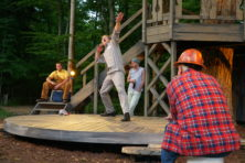 Phillip Sletteland, Neil Brookshire, Joe Bianco and Norman Moses in A Midsummer Night's Dream. Photo by Torey Byrne.