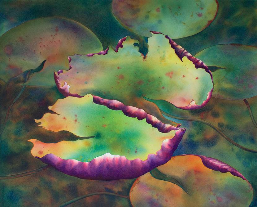 """Purple Linings I"" by Johanna Axelrod."