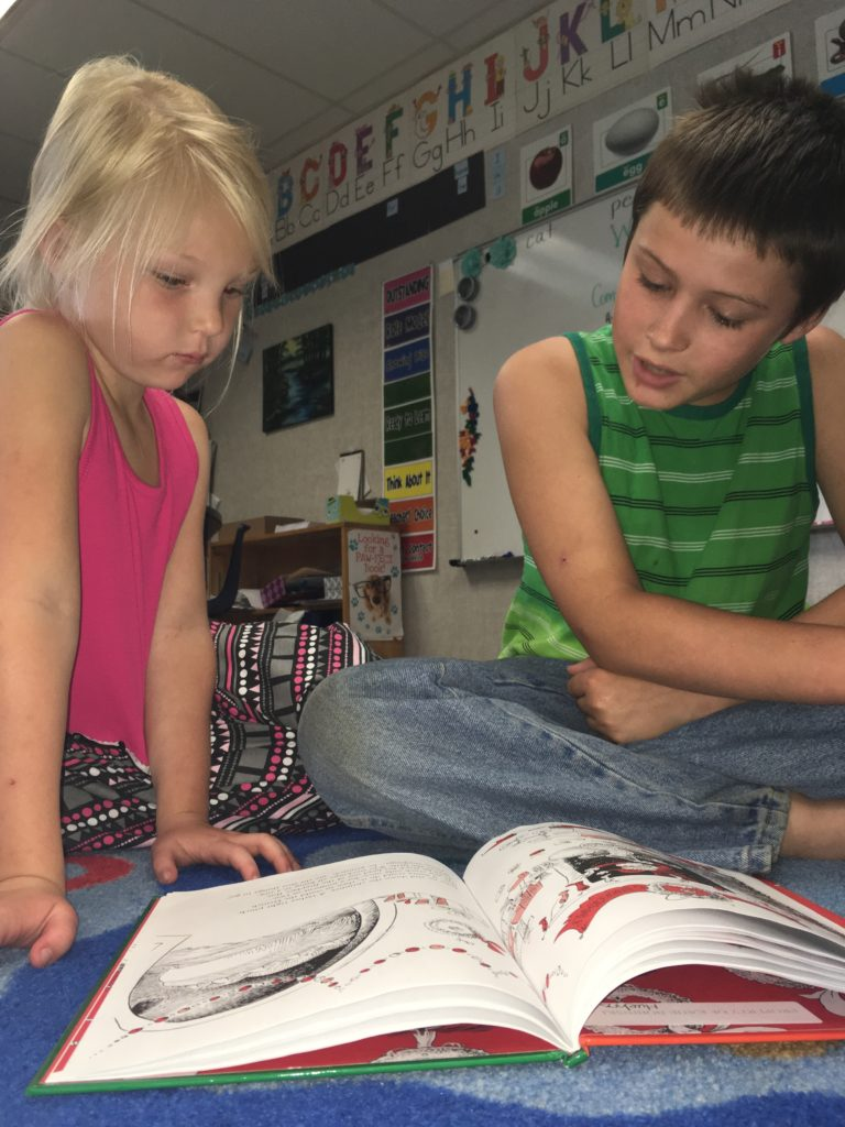 Students in Megan Horvat's classroom read together. Submitted.