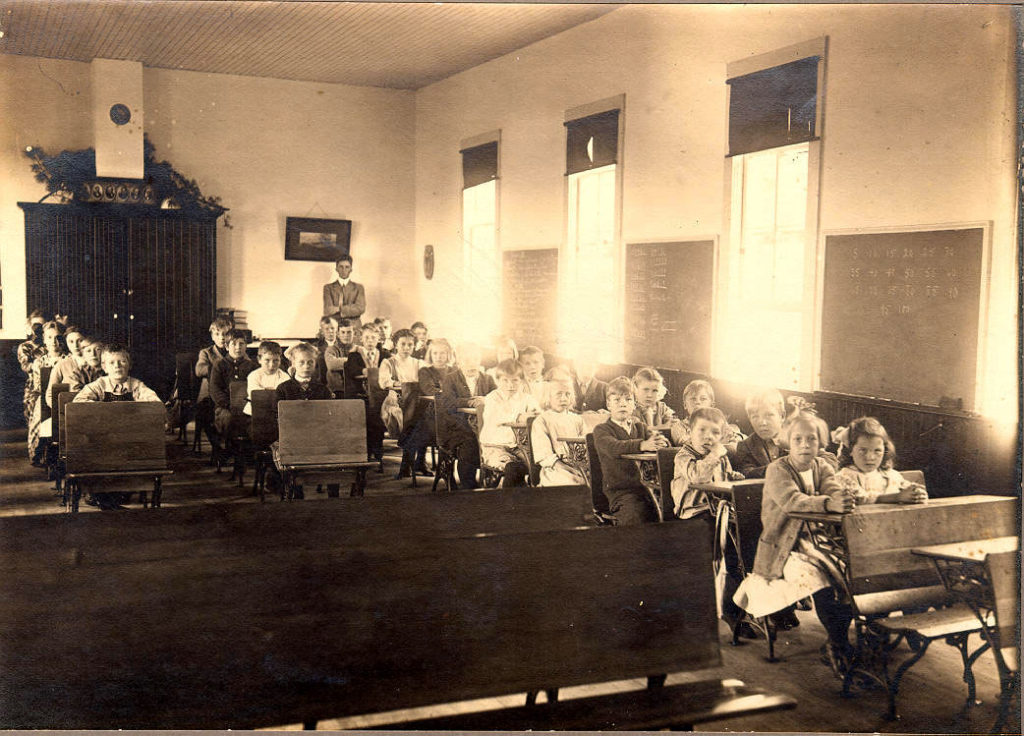 Inside the Pioneer Schoolhouse in Ephraim. Photos courtesy of the Ephraim Historical Foundation.