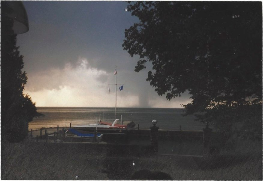 The tornado as it approached Horseshoe Bay. Photo courtesy of Jim Cowles.