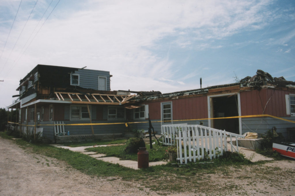 The Bel Air Motel was devastated by the tornado as well and was not rebuilt.