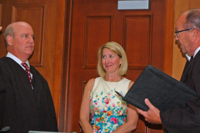 Elegant Holly Weber Looks On With Pride As Her Husband, David Weber, Is Sworn In By  Judge D. Todd Ehlers As Door Countyu0027s Newest Branch II Circuit Court Judge  On ...
