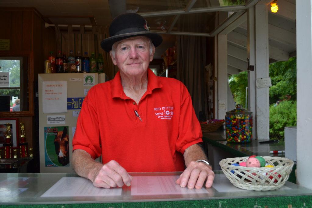 The Red Putter Mini Golf owner Bob Yttri. Photo by Alyssa Skiba.