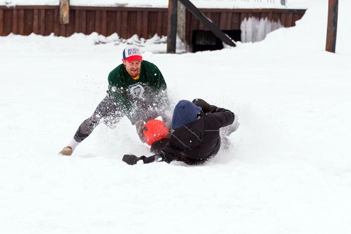 Fish Creek Winter Festival kickball tournament
