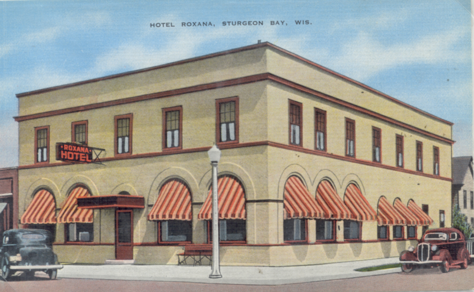 The Hotel Roxana, at the corner of 3rd and Kentucky in Sturgeon Bay, kept the wets happy during Prohibition.