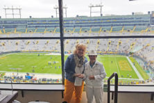 Elaine Hanrath and her friend, Tammy, at Sunday's Green Bay Packers game. Submitted.