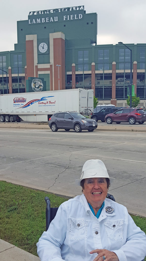 On Sunday, Elaine Hanrath made her first visit to Lambeau Field since the Ice Bowl. Submitted.