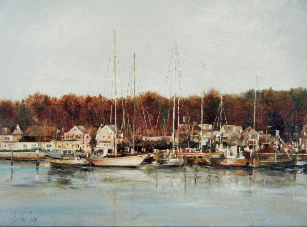 """Harbor Autumn"" by Brian Pier."