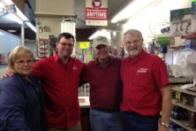 The Nelson's Tuesday crew, from left:  Lynn Prust, Chris Glen, Bill Hyson and Gary Nelson. Not pictured:  Brandon Honold.