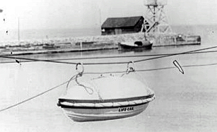 This boat on a rope was known as a lifecar. Submitted.