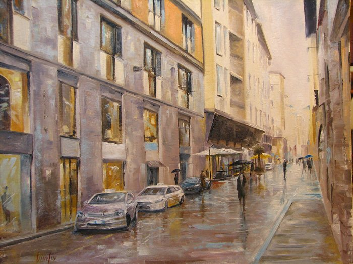 """""""Rainy Day In Florence"""" by Brian Pier."""