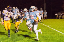 Southern Door's Nicholas LeCaptain makes a run in the Oct. 21 game against Kewaunee. Photo by Len Villano.