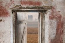 """""""Landscape Through Shed Door,"""" by Tom Jenz."""