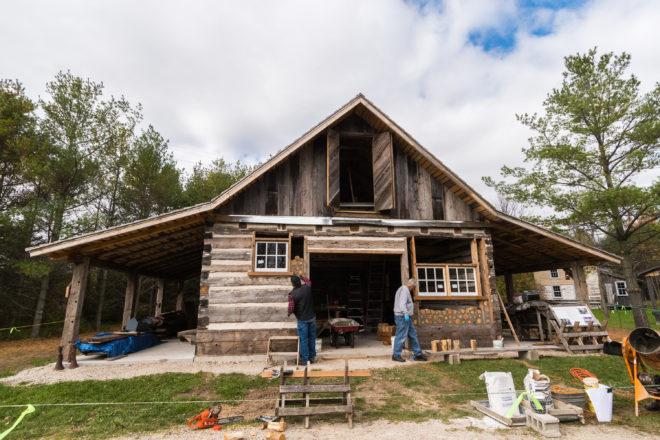 Cordwood Masonry Construction at Heritage Village