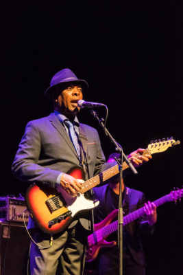 Booker T. Jones at the Door Community Auditorium for Winter Blues Fest. Photo by Len Villano.
