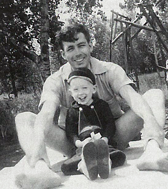 Young Richard Haney with his father, Clyde.