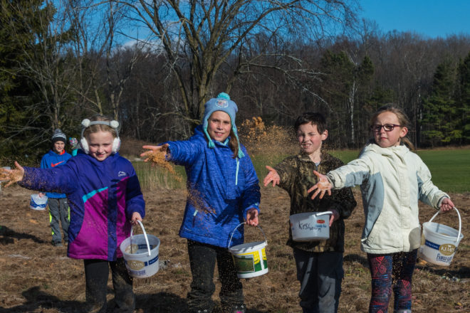 Elementary Students Create New Prairie Ecosystem at Southern Door Schools