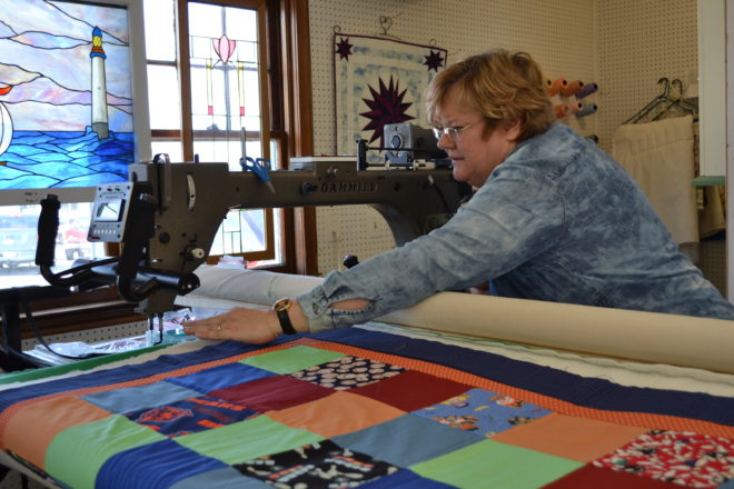 Quilting For Community: Algoma business owner sends quilts to fire victims