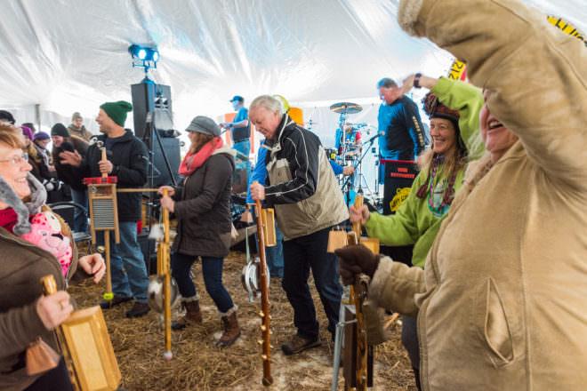 The Stumpf Fiddle: Fish Creek Winter Festival's Bizarre Instrument of Choice