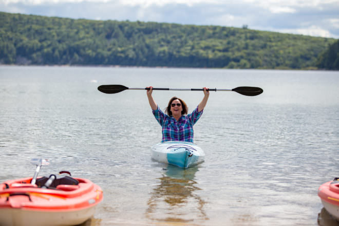 Stephanie Klett, Devil's Lake State Park, kayaking, kayak