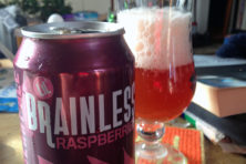 Cheers. Lil' Brainless Raspberry Ale. Epic Brewing.