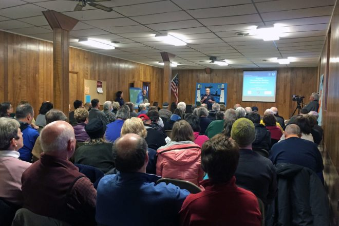 Hall Packed for Marine Sanctuary Presentation