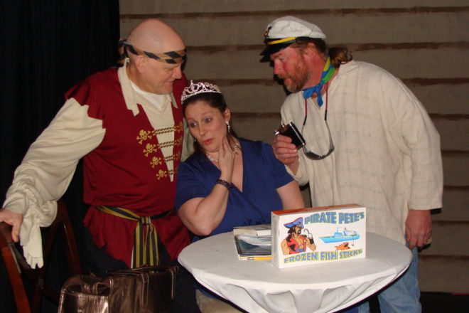 Rogue Theater Spoofs Celebrity Fundraisers in Mystery Dinner Show