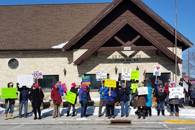 Members of Indivisible Met for Peaceful March