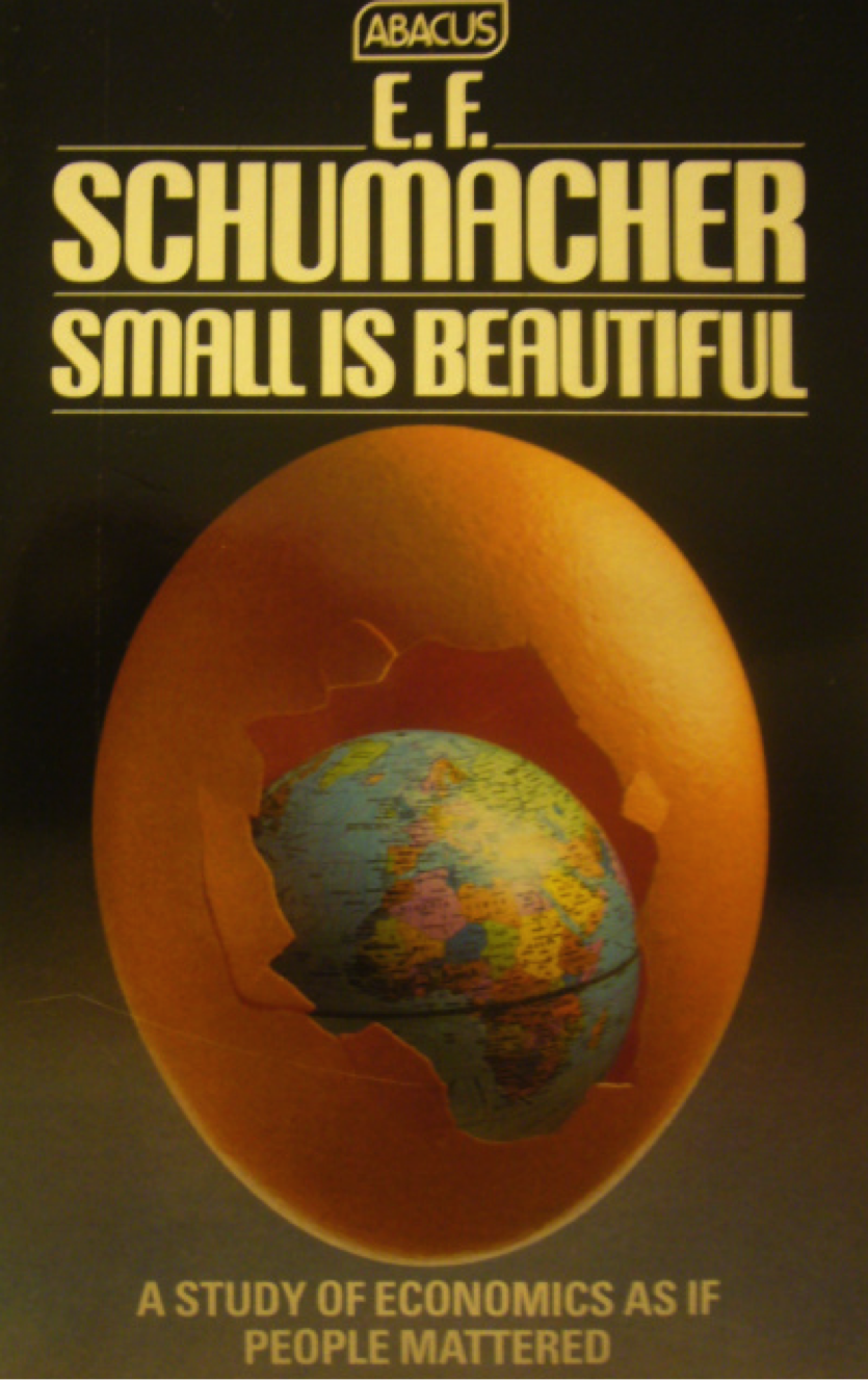 a book review of small is beautiful a study of economics by schumaher Industrial sichness in micro and small manufacturing enterprises in backward regions of india_ a cas.