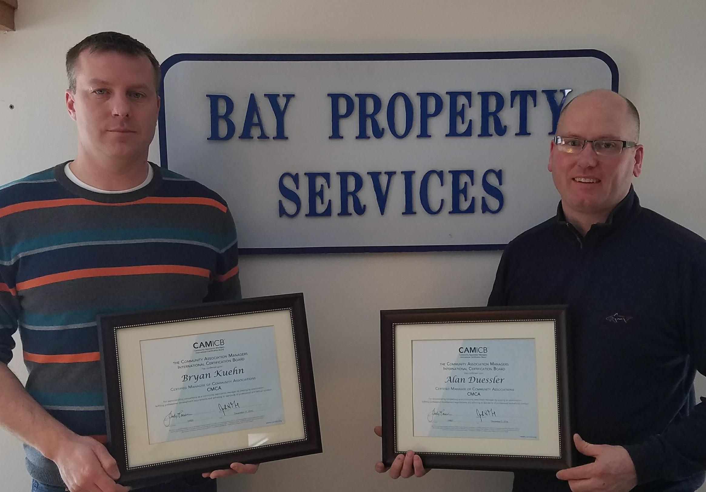 Bay Property Services Members Receive Cmca Door County Pulse