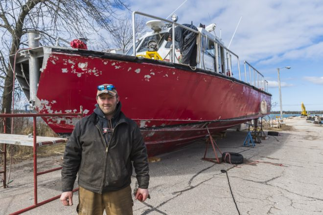 VIDEO: Fireboat Kevin C Kane Relaunched in Baileys Harbor