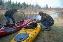 Framed. Jim Lundstrom. Reiboldt's Creek. Fishing.