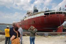 Rotary Club Shipyard Tour. Jim Lundstrom.