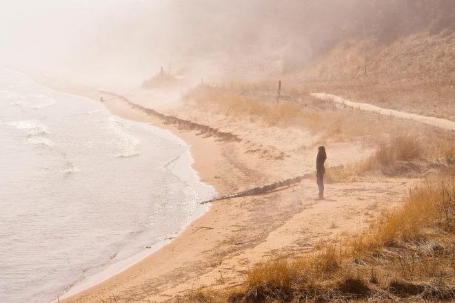 Whitefish Dunes new shipwreck exhibit. Photo by Len Villano