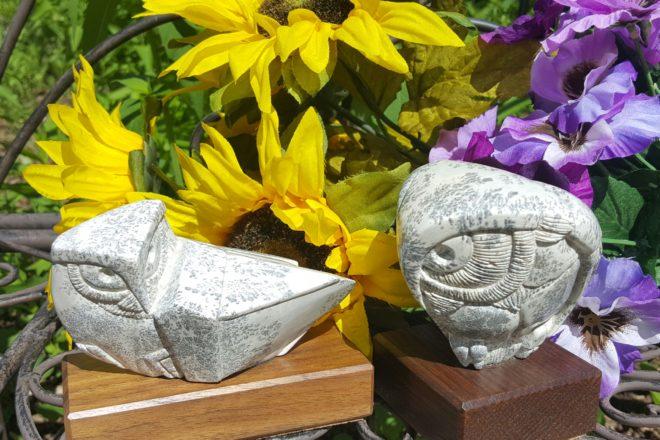 Soapstone Owls at Artzy Studio