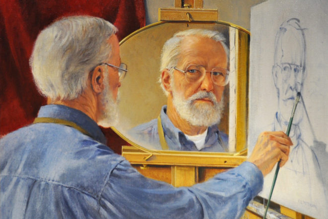"""""""All Done with Mirrors"""" by Charles L. Peterson."""