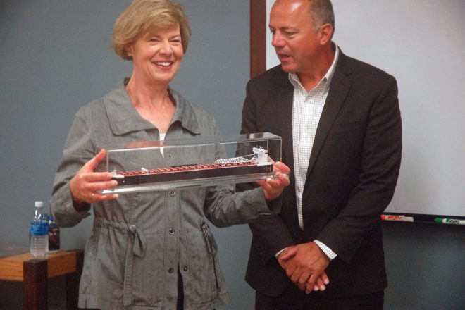 Baldwin Recognized for Maritime Support at Bay Shipbuilding